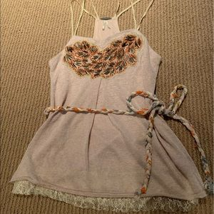 Beaded embellished top